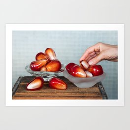 Pomegranate Seed Salad Art Print