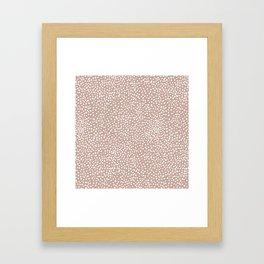 Little wild cheetah spots animal print neutral home trend warm dusty rose coral Framed Art Print