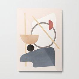 Minimal Abstract Shapes No.51 Metal Print