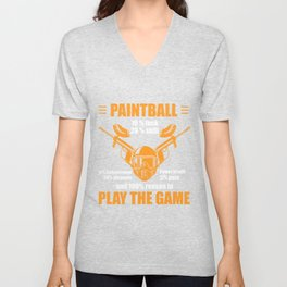 100%  Reason To Play Paintball Color Balls Gift Unisex V-Neck