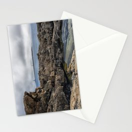 Twin lights cloudy day Stationery Cards