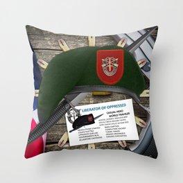 7th SFG(A) Throw Pillow