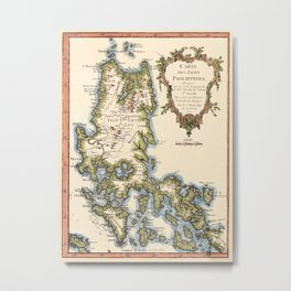 Map Of The Philippines 1752 Metal Print
