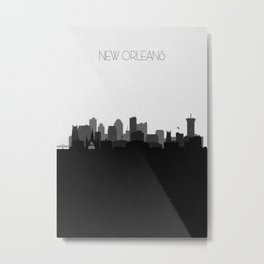 City Skylines: New Orleans (Alternative) Metal Print