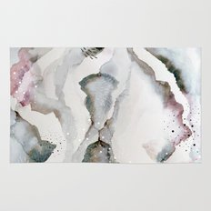 serenity: abstract painting Rug