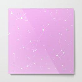 Bubblegum Pink Night Sky Metal Print