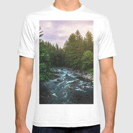 PNW River Run II - Pacific Northwest Nature Photography T-shirt