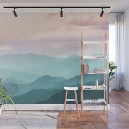 Smoky Mountain National Park Sunset Layers II - Nature Photography Wall Mural