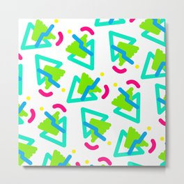 Squiggle Party Metal Print