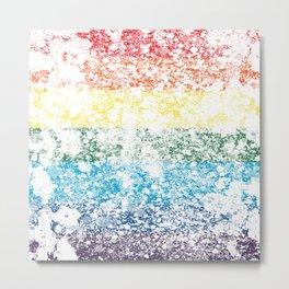 LGBTQ+ Pride Flag Distressed Design Metal Print