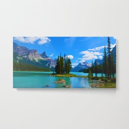 Spirit Island on Maligne Lake in Jasper National Park, Canada Metal Print
