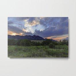 South Boulder Sunset Vista Metal Print