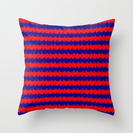 Australian Flag Blue and Red Shark Attack Stripes Throw Pillow