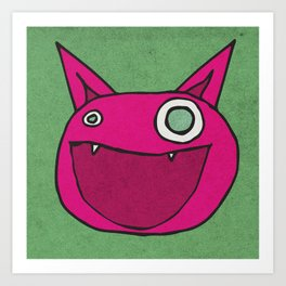 Slightly Amused Monsters, IX Hot Pink Art Print