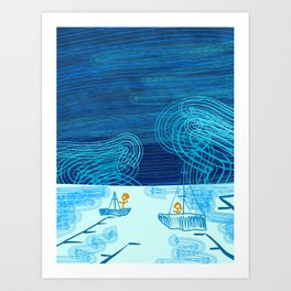 Of Boats And Sky Art Print