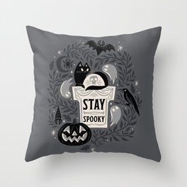 Stay Spooky Throw Pillow