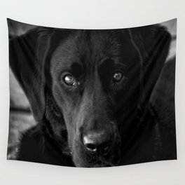Loyalty  Black Lab  Wall Tapestry