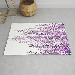 purple wisteria in bloom Rug