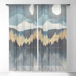 Indigo Night Sheer Curtain