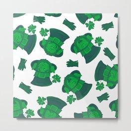 Retro Vintage St Patricks Day Green Leprechaun Metal Print