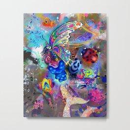 Flying Gummy Bear Metal Print