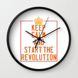 This is the awesome revolutionary Tshirt Those who make peaceful revolution Start the revolution Wall Clock