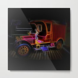 Fractal carriage Metal Print