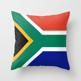 flag south africa, African,Afrikaans,Mandela,apartheid, Johannesburg,Soweto,Pretoria,Durban,Tembisa Throw Pillow