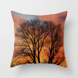 TRACERY Throw Pillow