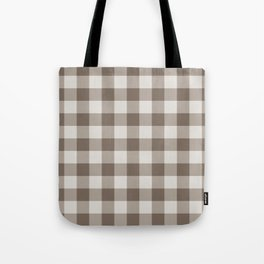 Buffalo Check Beige Cream Ivory Gingham Tote Bag