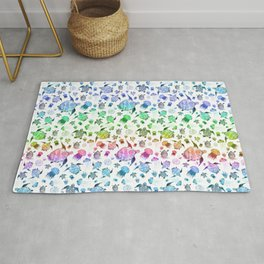 Ocean Life - Rainbow Colors Rug