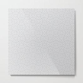 Fretwork Pattern Metal Print
