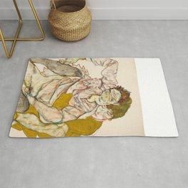 "Egon Schiele ""Seated Couple"" Rug"
