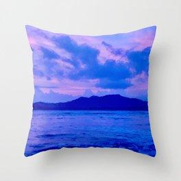 Blue Mountain Shore Throw Pillow