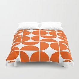 Mid Century Modern Geometric 04 Orange Bettbezug