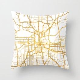 KANSAS CITY MISSOURI CITY STREET MAP ART Throw Pillow