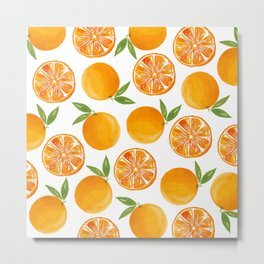 Oranges Pattern Metal Print