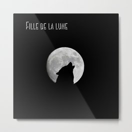 Daughter of the moon wolf version Metal Print