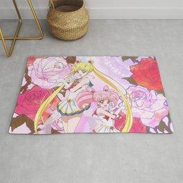 Sailor Moon & Chibimoon Crystal IV Rug