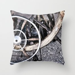 Ships Wheels for Sale Throw Pillow