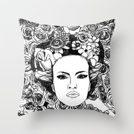 "PHOENIX AND THE FLOWER GIRL ""STEP BY STEP MOVING"" SINGLE PRINT Throw Pillow"