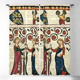 Codex Manesse: Bernger von Horheim Blackout Curtain