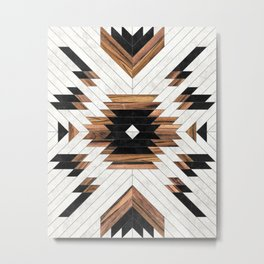 Urban Tribal Pattern No.5 - Aztec - Concrete and Wood Metal Print