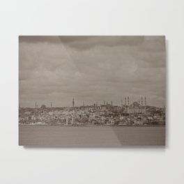 Mosque (Istanbul, TURKEY) from the Sea of Marmara Metal Print