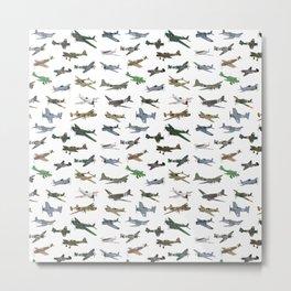Various WW2 Planes Metal Print