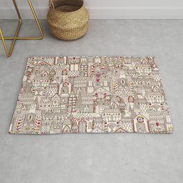 gingerbread town Rug