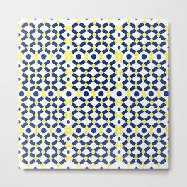 Moroccan Tile Work Metal Print