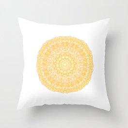 Mandala 13 / 1 yellow Citrine Throw Pillow