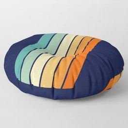 Farida - 70s Vintage Style Retro Stripes Floor Pillow