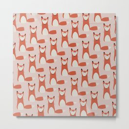 Foxy - Cute Fox Metal Print
